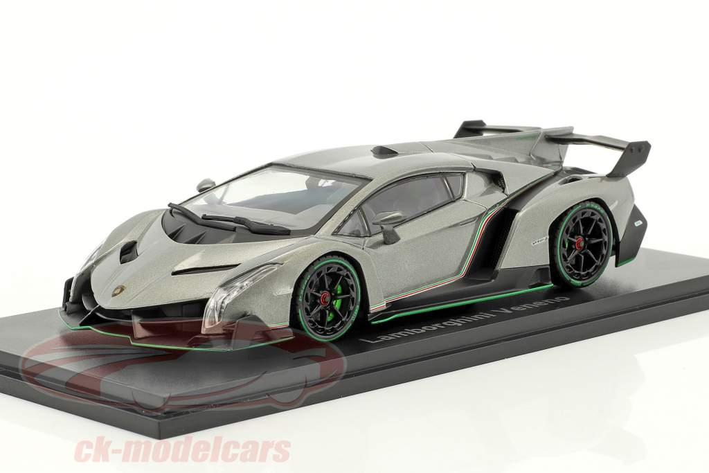 Lamborghini Veneno anno di costruzione 2014 grigio / verde 1:43 Kyosho