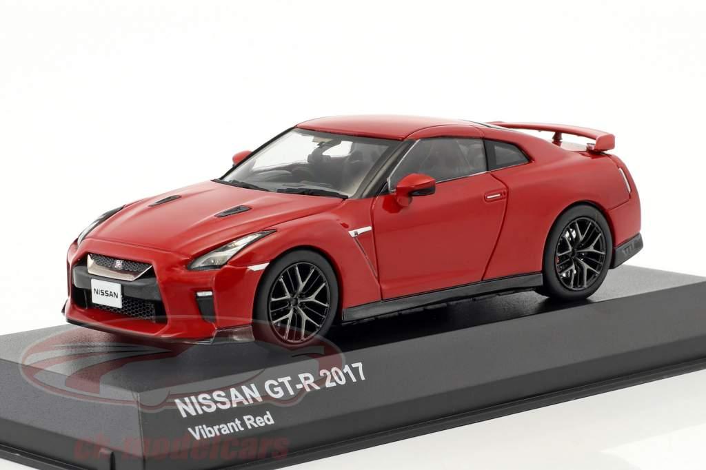 Nissan GT-R (R35) anno di costruzione 2017 rosso 1:43 Kyosho
