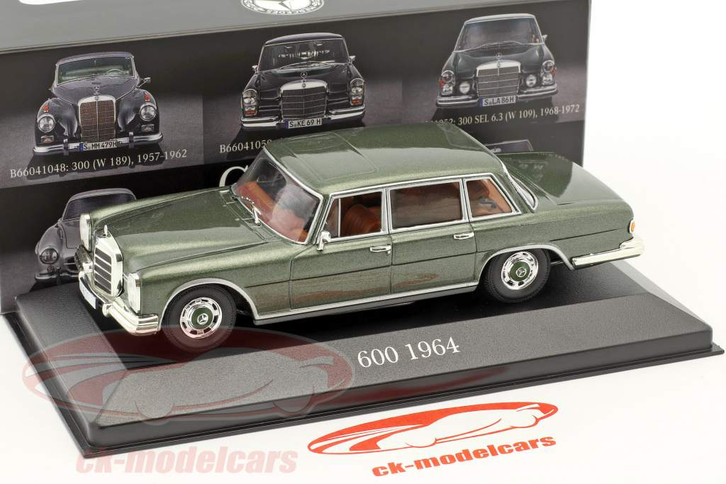 Mercedes-Benz 600 (W100) year 1963-1981 pine green 1:43 Atlas