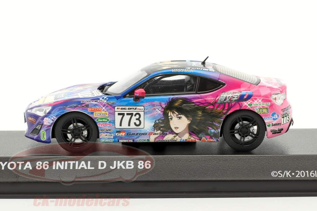 Toyota 86 #773 Initial D JKB 86 year 1986 blue / pink 1:43 Kyosho