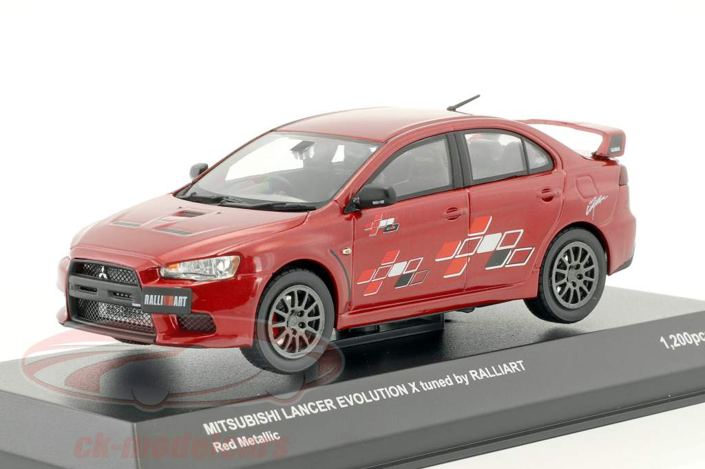 Mitsubishi Lancer Evo X tuned by Ralliart rot metallic 1:43 Kyosho