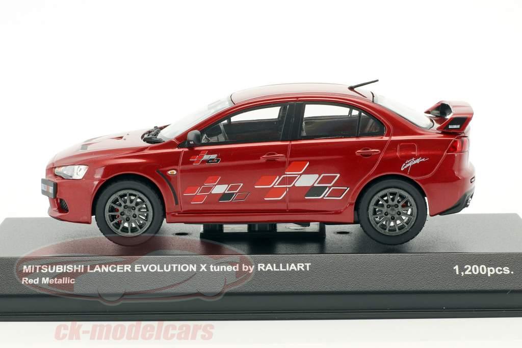 Mitsubishi Lancer Evo X l'écoute by Ralliart rouge métallique 1:43 Kyosho
