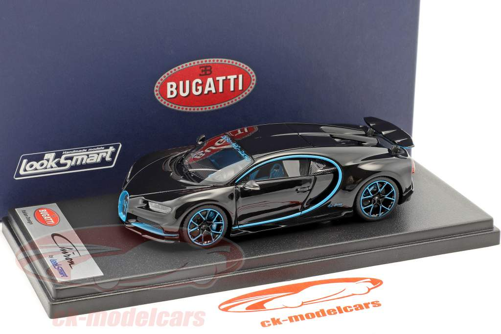Bugatti Chiron Zero-400 black metallic / blue 1:43 LookSmart