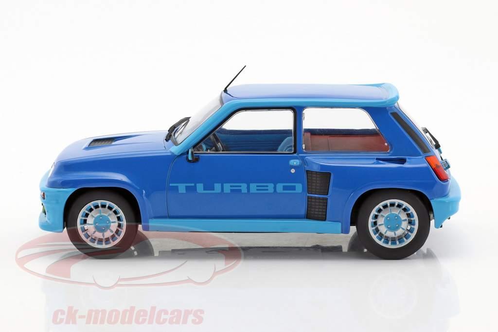 Renault 5 Turbo 1 year 1981 blue metallic 1:18 Ixo