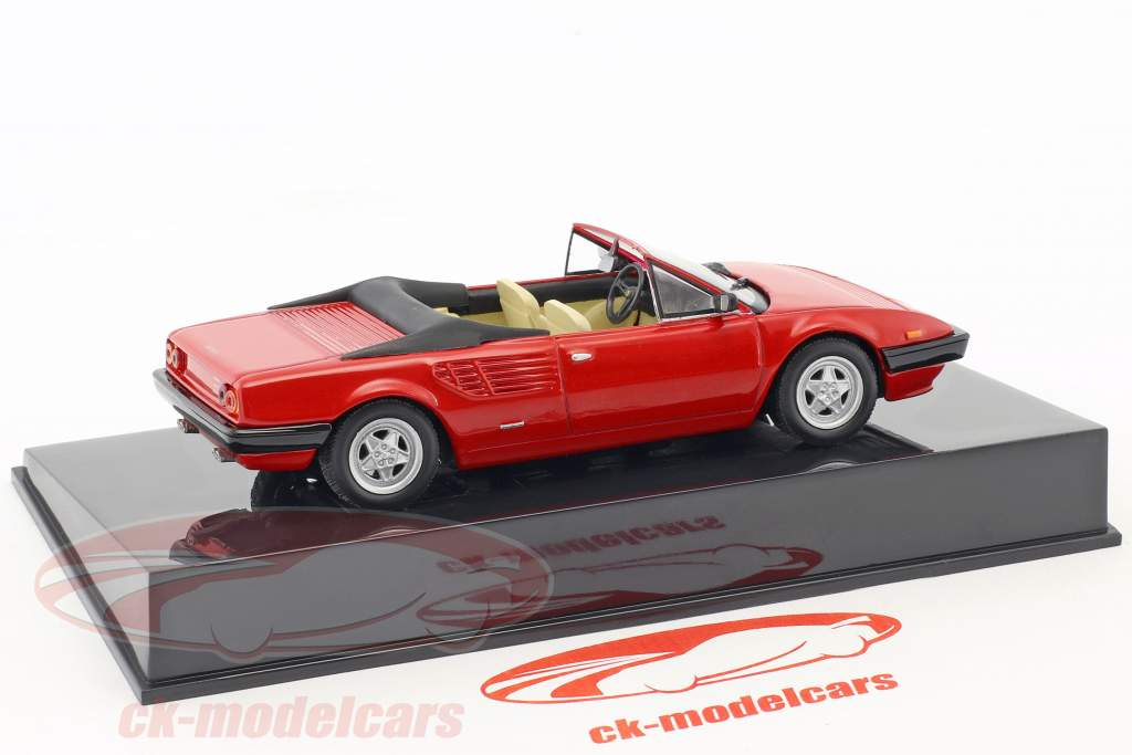 Ferrari Mondial Cabriolet red with showcase 1:43 Altaya