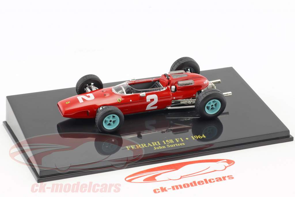 John Surtees Ferrari 158 F1 #2 formula 1 1964 with showcase 1:43 Altaya