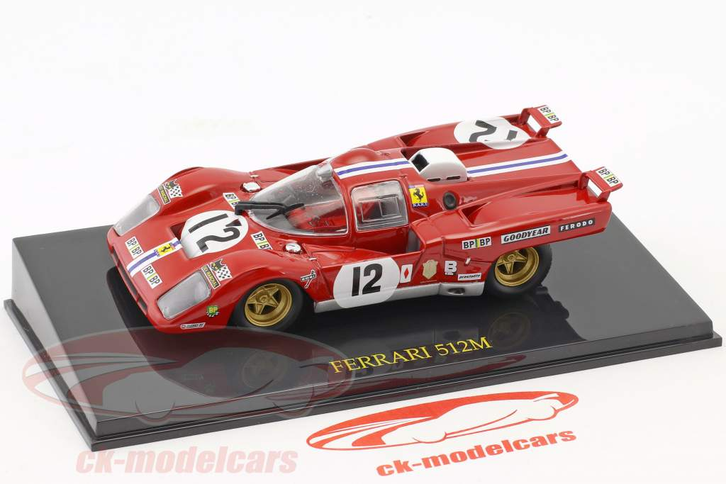Ferrari 512M #12 3 ° 24h LeMans 1971 Posey, Adamowicz con vetrina 1:43 Altaya