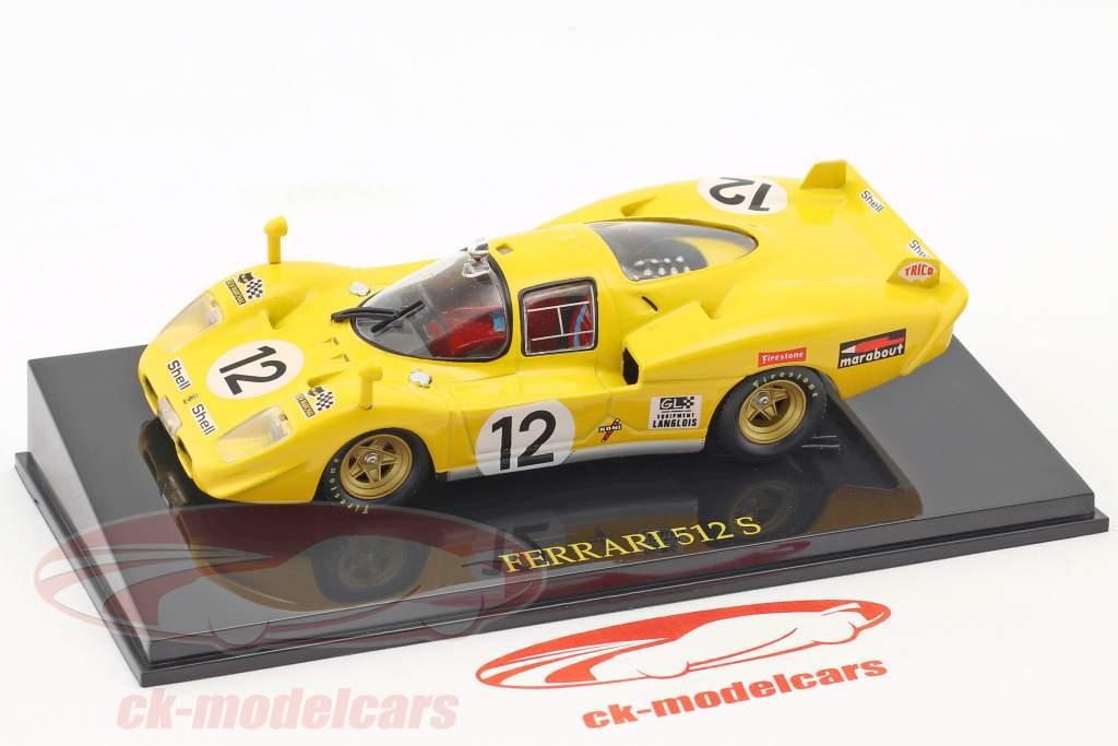 Ferrari 512 S #12 24h LeMans 1970 Fierlant, Walker with showcase 1:43 Altaya