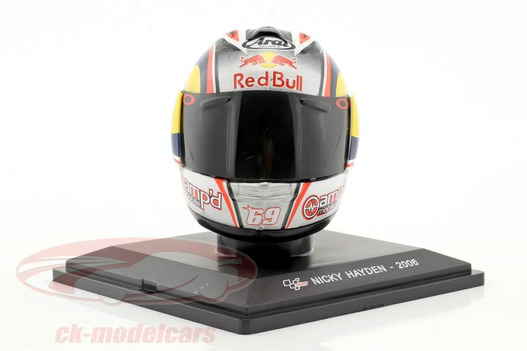 Nicky Hayden World Champion MotoGP 2006 helmet 1:5 Altaya