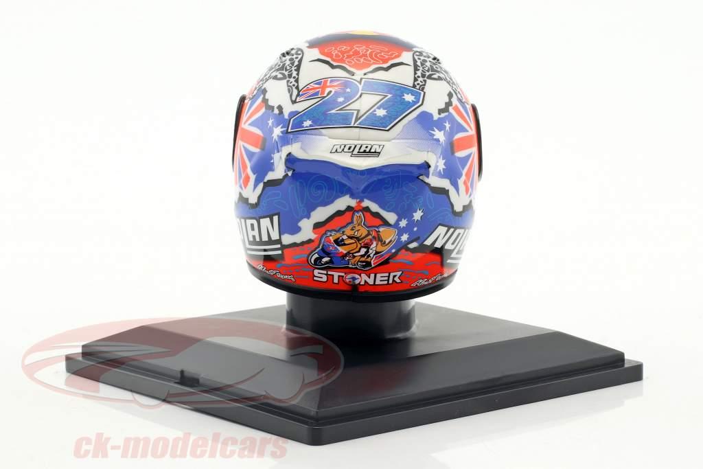 Casey Stoner World Champion MotoGP 2011 helmet 1:5 Altaya