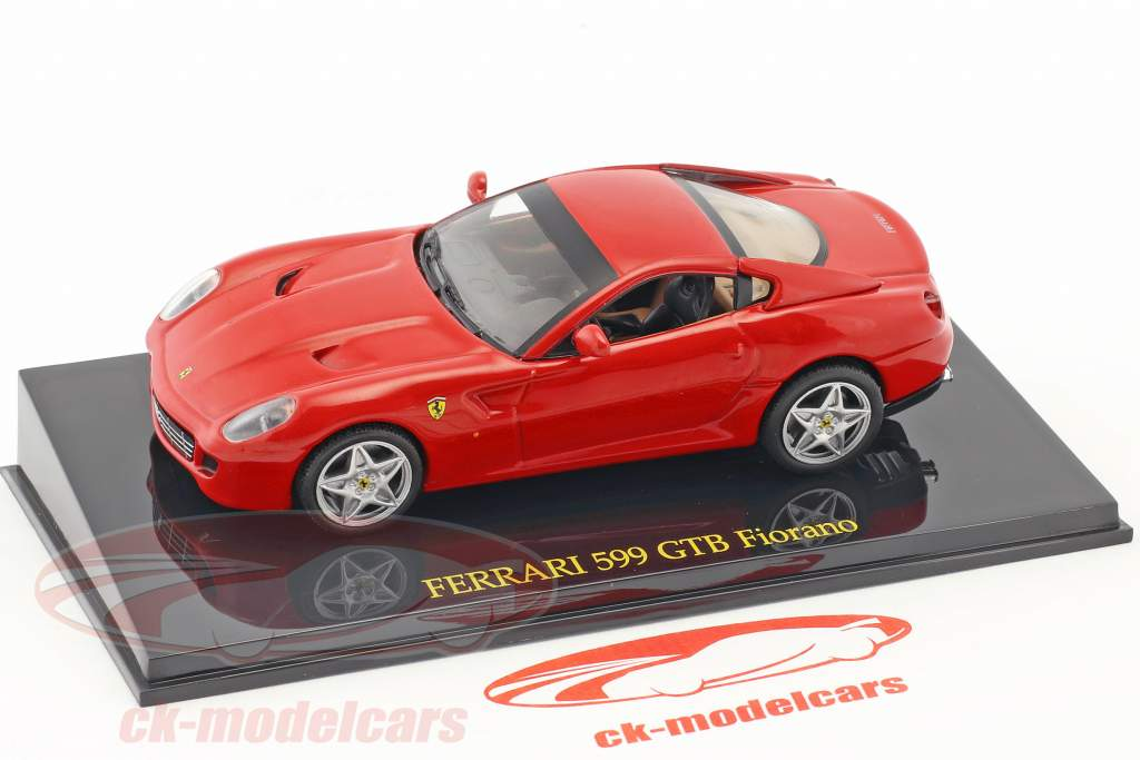 Ferrari 599 GTB Fiorano red with showcase 1:43 Altaya