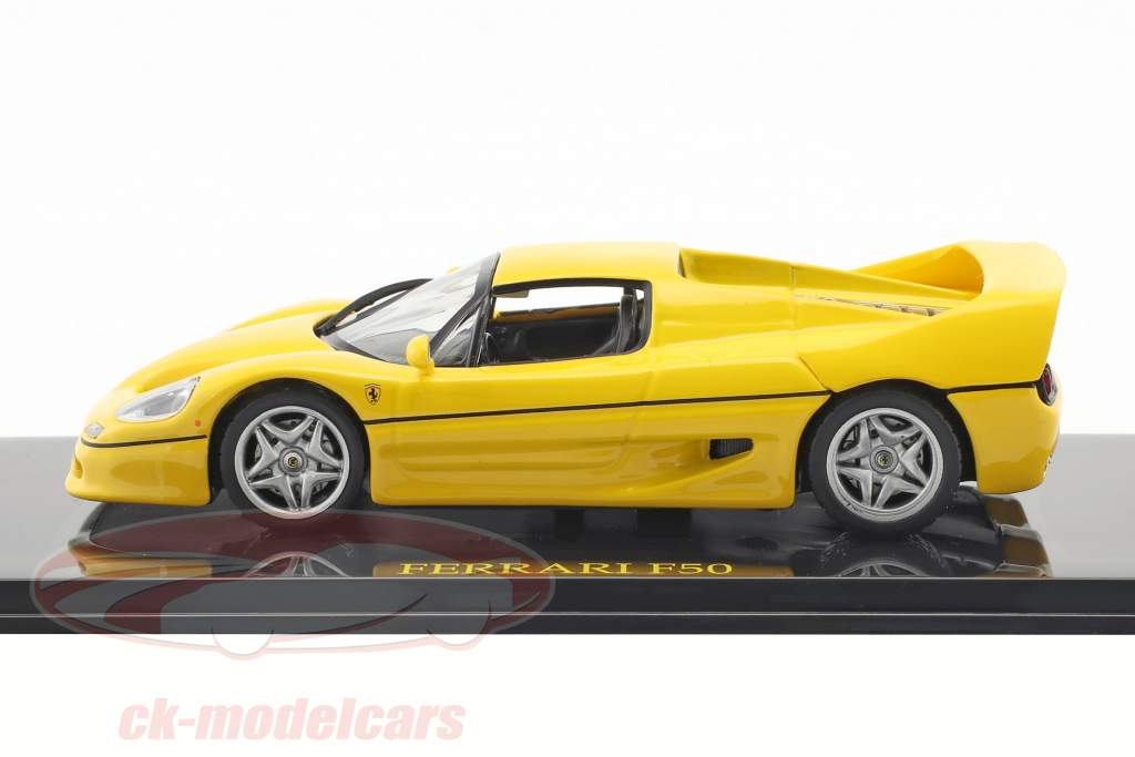 Ferrari F50 yellow with showcase 1:43 Altaya