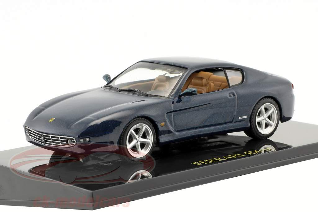 Ferrari 456 M blue metallic with showcase 1:43 Altaya