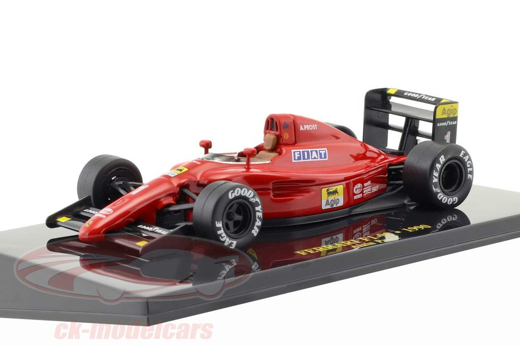 Alain Prost Ferrari F1-90 #1 formula 1 1990 with showcase 1:43 Altaya