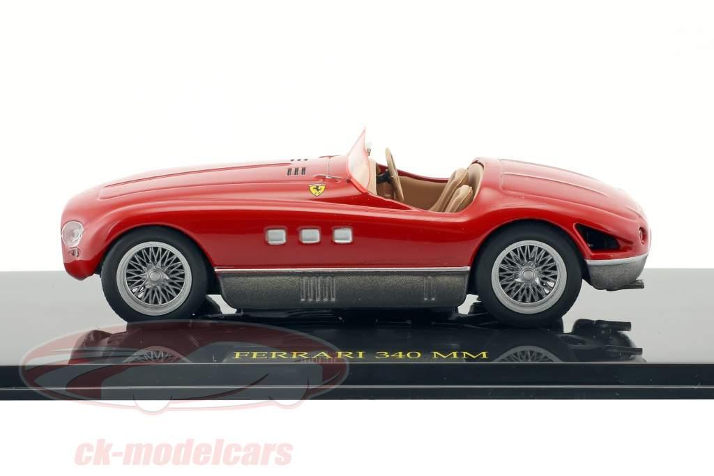 Ferrari 340 MM rot mit Vitrine 1:43 Altaya