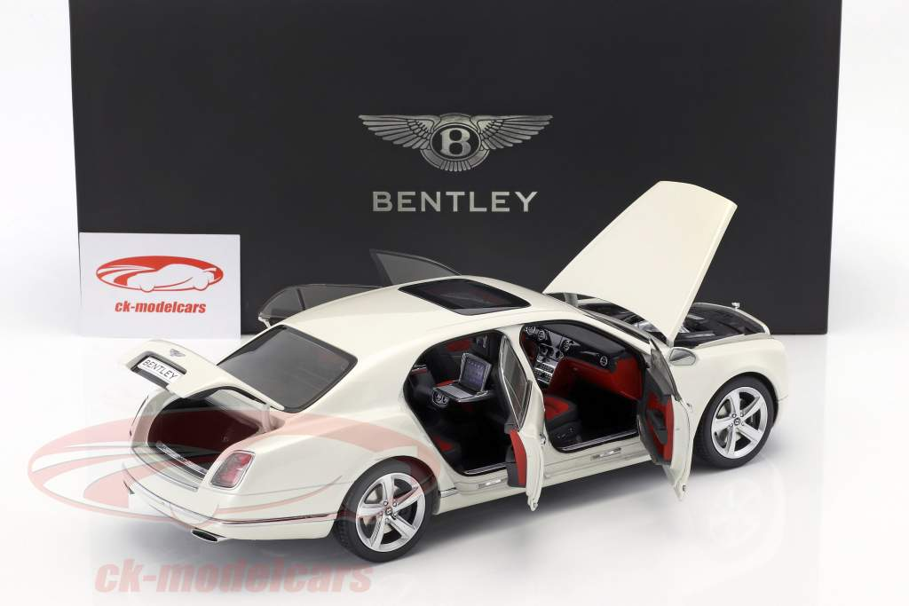 Bentley Mulsanne Speed spirito bianco 1:18 Kyosho