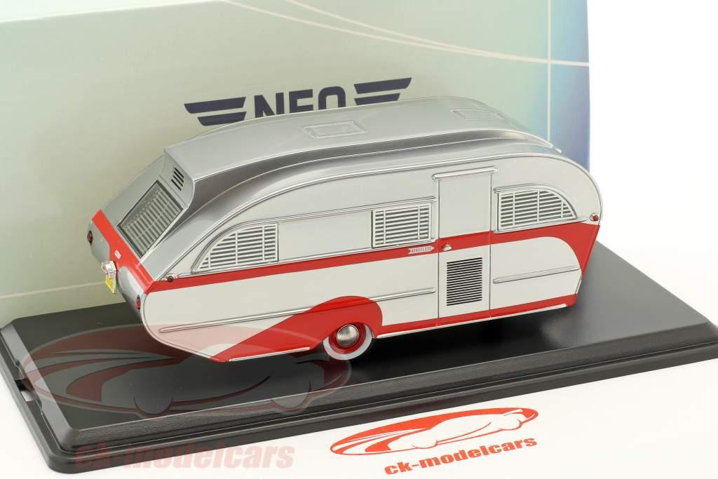 Aero Flite Falcon Travel Trailer année de construction 1948 argent 1:43 Neo