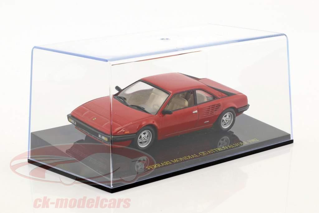 Ferrari Mondial Quattrovalvole Baujahr 1982 rot mit Vitrine 1:43 Altaya