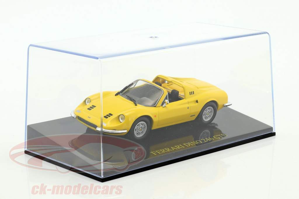 Ferrari Dino 246 GTS yellow with showcase 1:43 Altaya