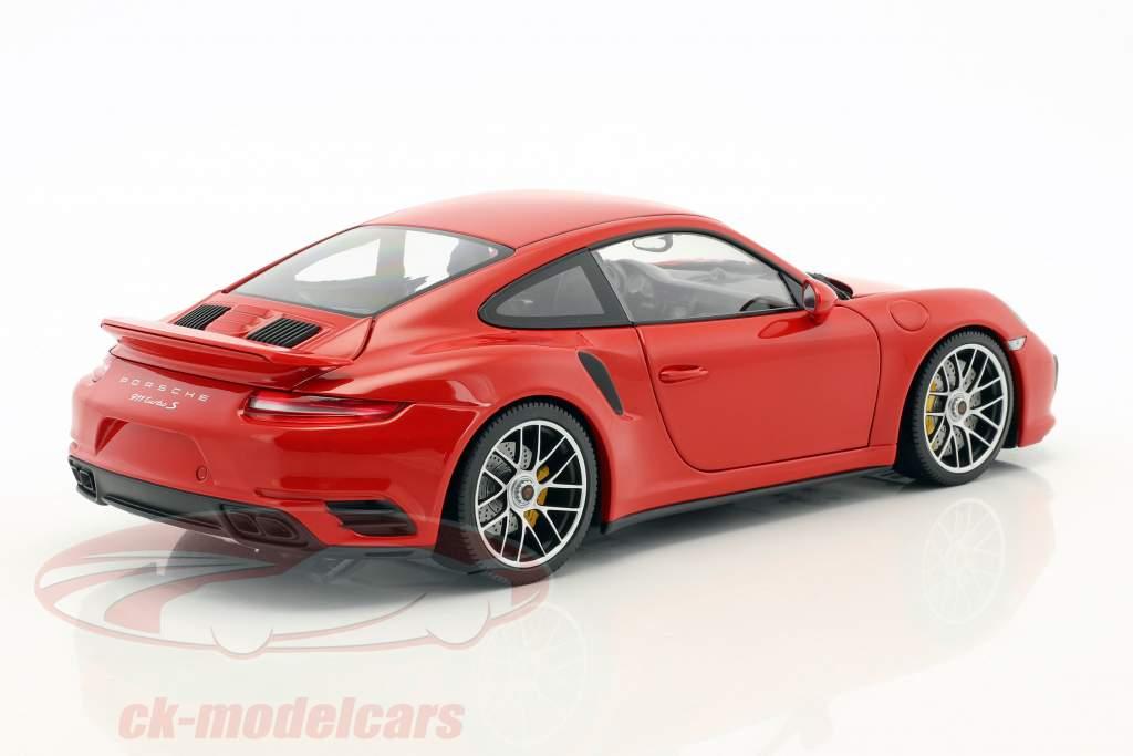 Porsche 911 (991) Turbo S Baujahr 2016 rot 1:18 Minichamps