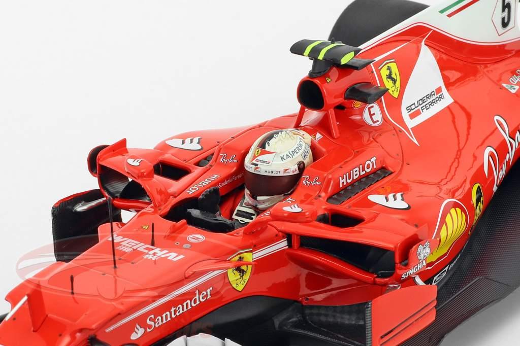 Sebastian Vettel Ferrari SF70H #5 Winner monaco GP formula 1 2017 1:18 BBR