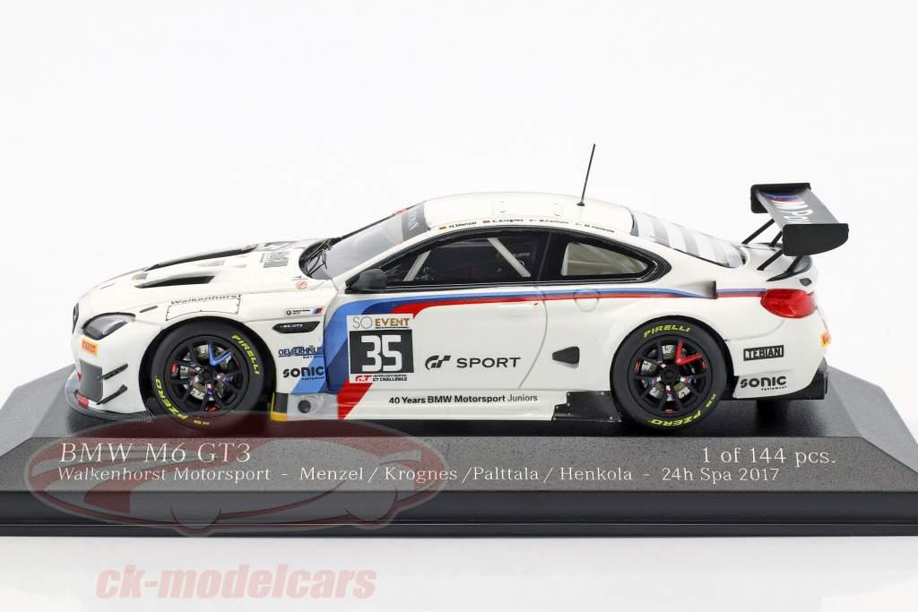BMW M6 GT3 #35 24h Spa 2017 Menzel, Krognes, Palttala, Henkola 1:43 Minichamps