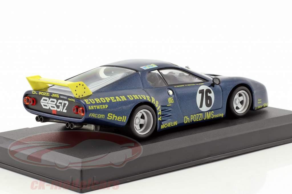 Ferrari BB 512 LM #76 24h LeMans 1981 Xhenceval, Dieudonne, Regout 1:43 Altaya