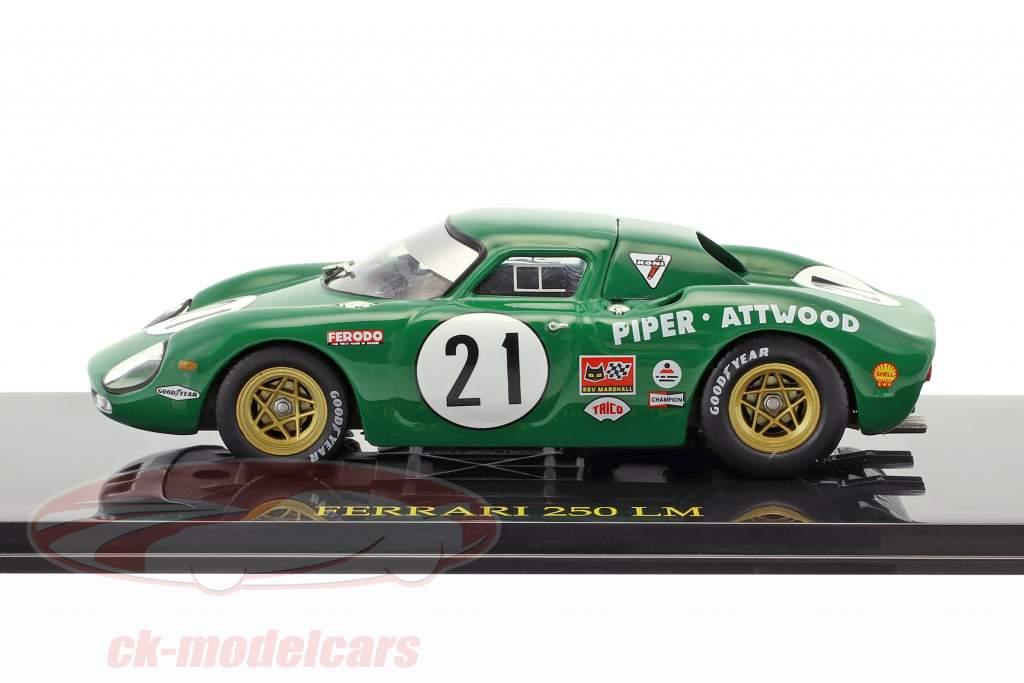 Ferrari 250 LM #21 24h LeMans 1968 Piper / Attwood con vetrina 1:43 Altaya