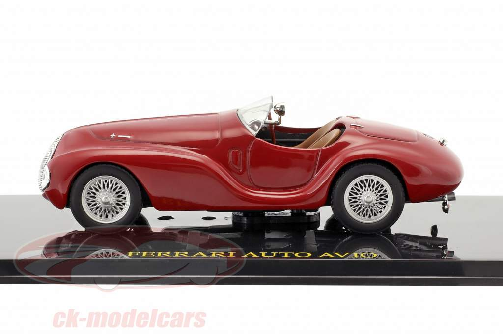 Ferrari Auto Avio red with showcase 1:43 Altaya