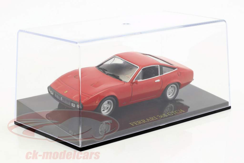 Ferrari 365 GTC/4 red with showcase 1:43 Altaya