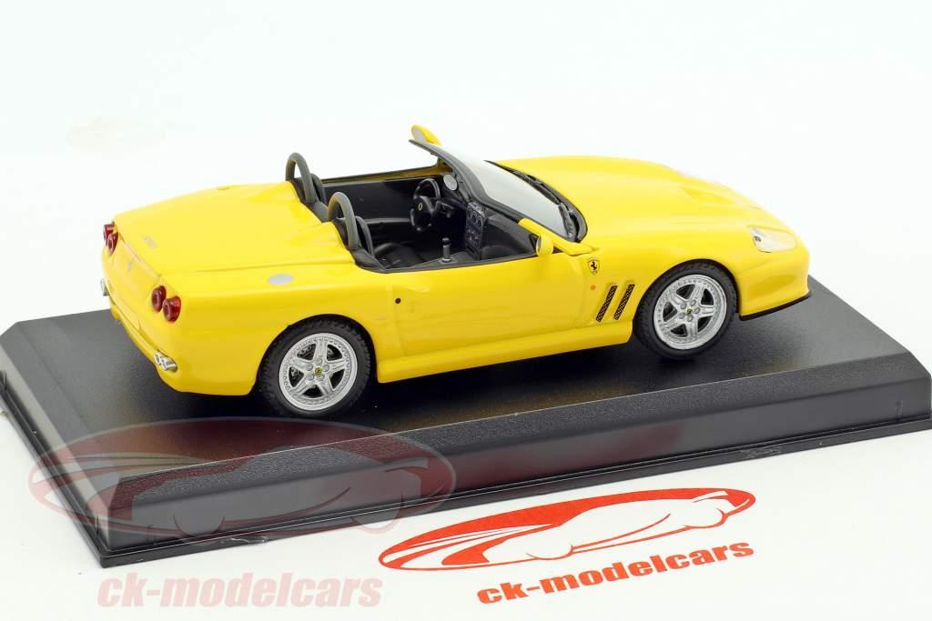 Ferrari 550 Barchetta Pininfarina yellow 1:43 Altaya