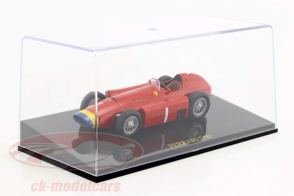 Juan Manuel Fangio Ferrari D50 Weltmeister Formel 1 1956 mit Vitrine 1:43 Altaya