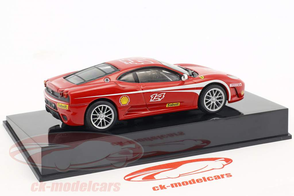 Ferrari F430 Challenge #14 red with Showcase 1:43 Altaya