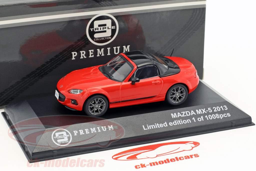 Mazda MX-5 year 2013 red / black 1:43 Triple9