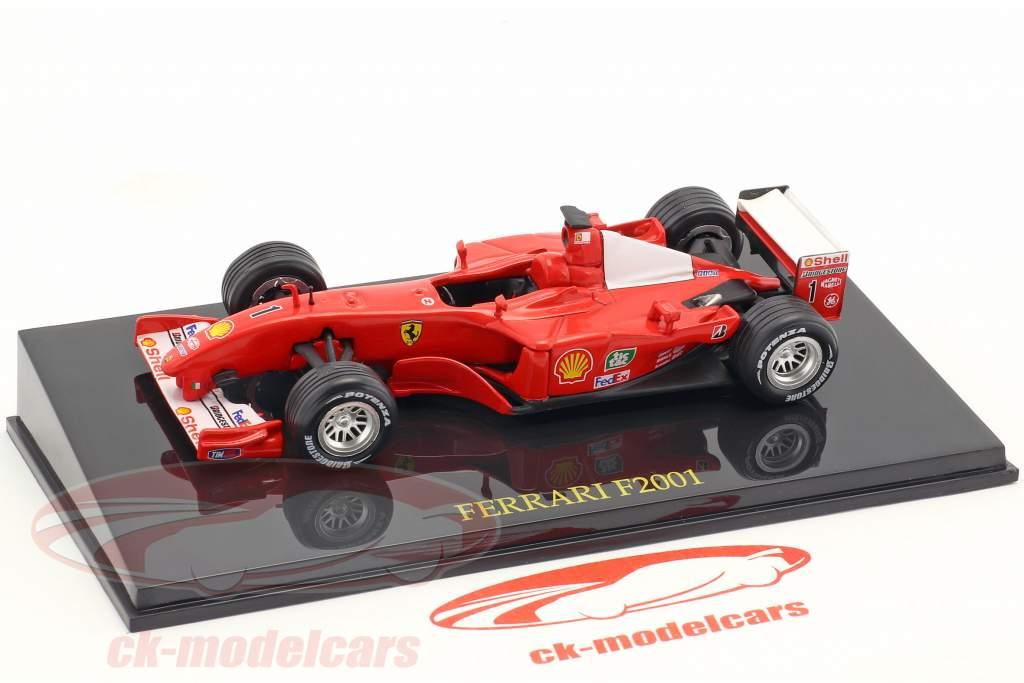 M. Schumacher Ferrari F2001 #1 Weltmeister Formel 1 2001 mit Vitrine 1:43 Altaya