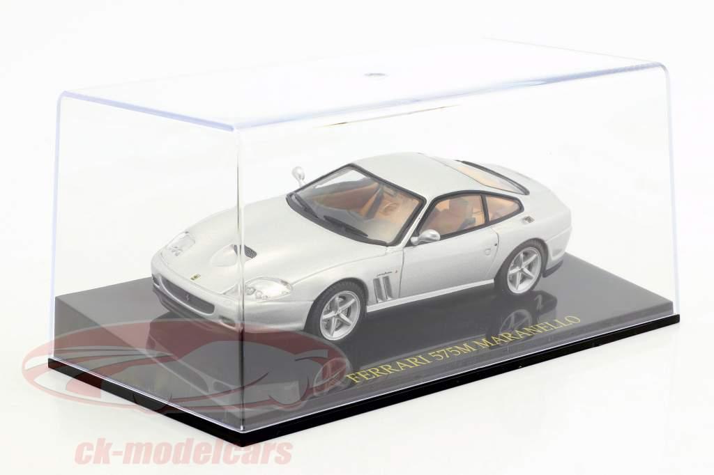 Ferrari 575M Maranello silver with showcase 1:43 Altaya