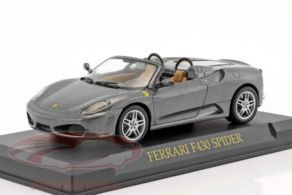 Ferrari F430 Spider grey metallic 1:43 Altaya