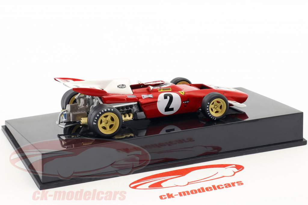 Jacky Ickx Ferrari F312 B2 #2 formula 1 1971 with showcase 1:43 Altaya