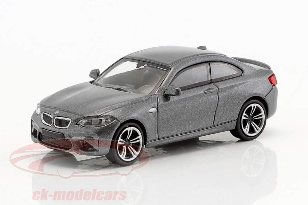BMW M2 Baujahr 2016 grau metallic 1:87 Minichamps