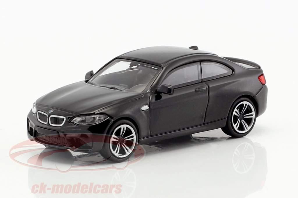 BMW M2 année de construction 2016 noir métallique 1:87 Minichamps