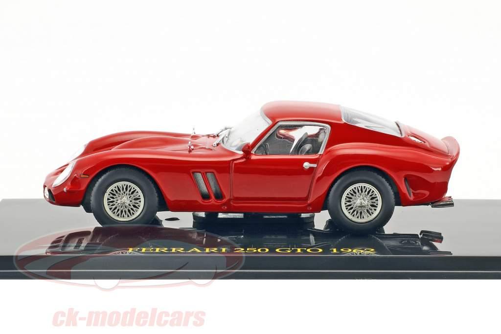 Ferrari 250 GTO anno 1962 rosso con vetrina 1:43 Altaya