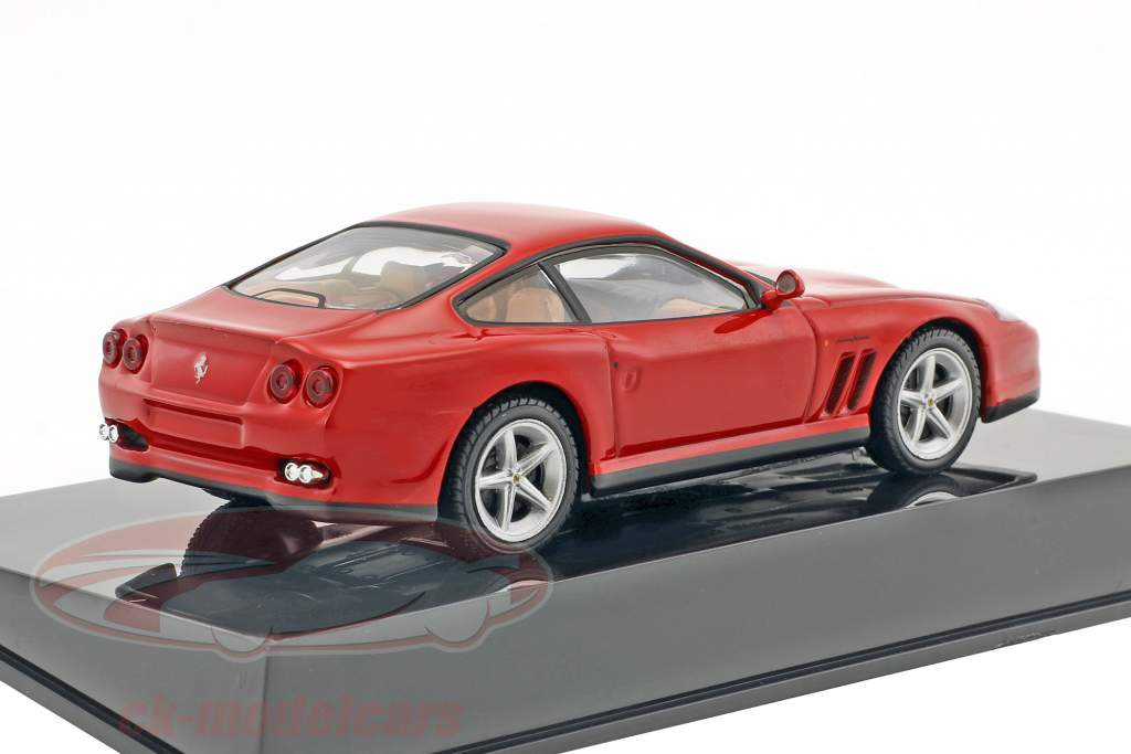 Ferrari 550 Maranello rouge avec vitrine 1:43 Altaya