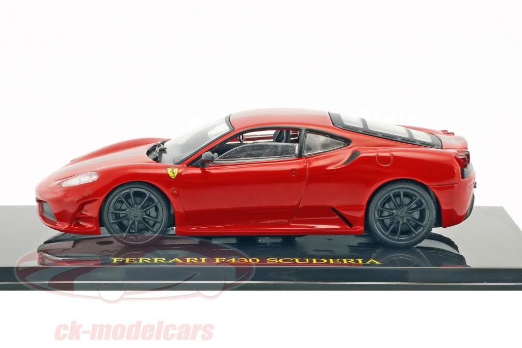 Ferrari F430 Scuderia red with showcase 1:43 Altaya