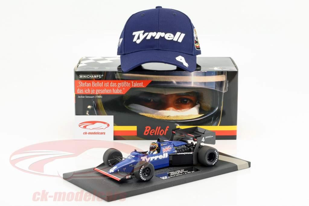 Stefan Bellof Tyrrell 012 #4 Brasile GP formula 1 1984 con berretto 1:18 Minichamps