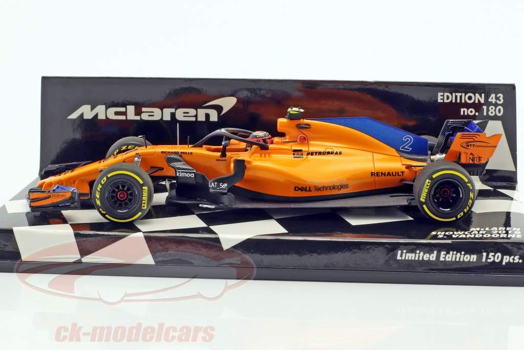 Stoffel Vandoorne McLaren F1 Team #2 formula 1 2018 showcar 1:43 Minichamps