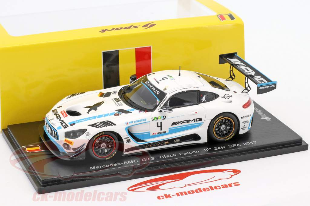 Mercedes-Benz AMG GT3 #4 24h Spa 2017 Stolz, Christodoulou, Buurman 1:43 Spark