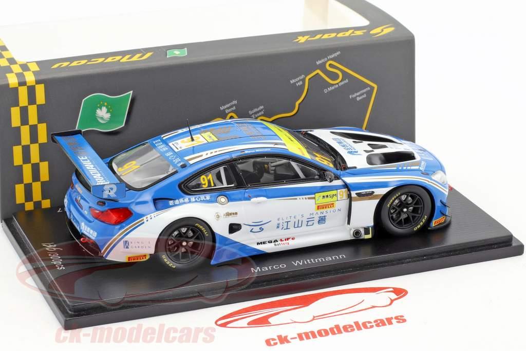 BMW M6 GT3 #91 6th FIA GT World Cup Macau 2017 Marco Wittmann 1:43 Spark