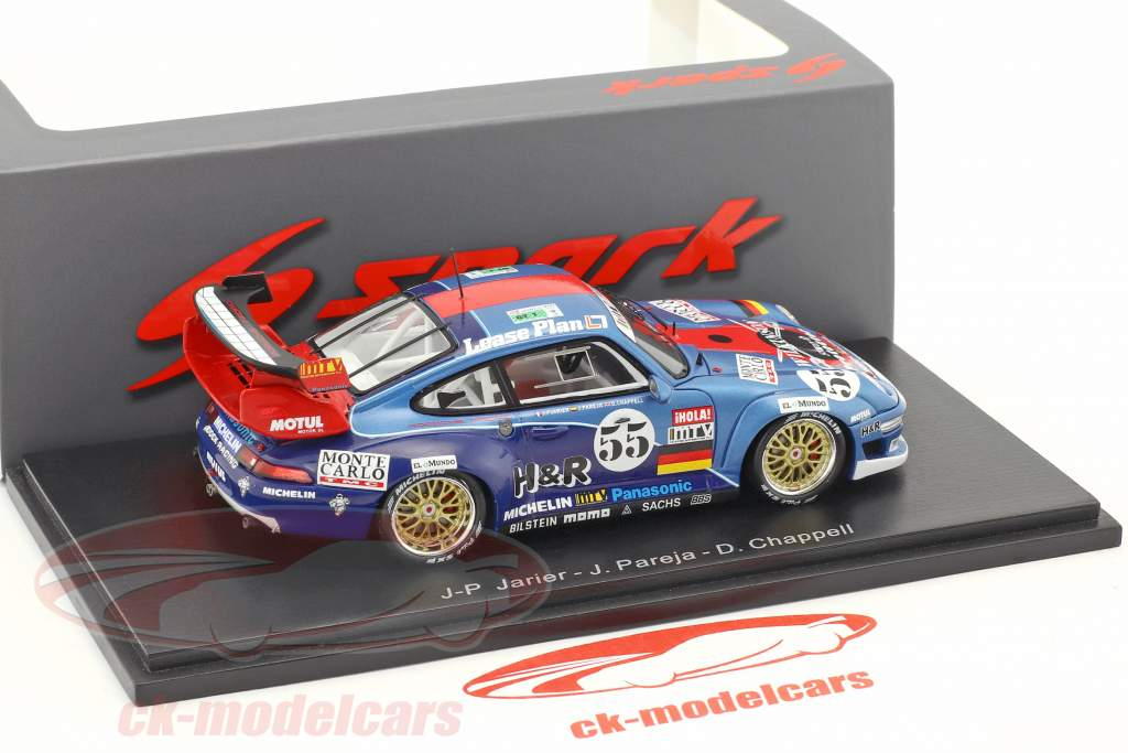 Porsche 911 GT2 Evo #55 24h LeMans 1996 Jarier, Pareja, Chappell 1:43 Spark