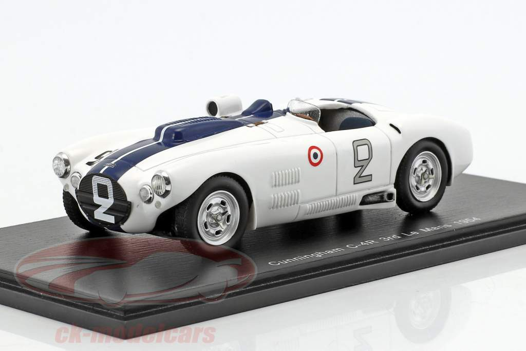 Cunningham C4-R #2 3 ° 24h LeMans 1954 Spear, Johnston 1:43 Spark
