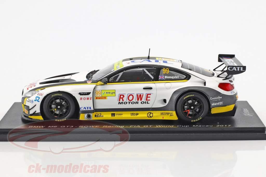 BMW M6 GT3 #99 FIA GT World Cup Macau 2017 Tom Blomqvist 1:43 Spark